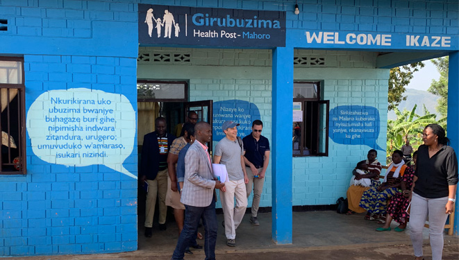 fisk at a scj sponsored health post in Rwanda