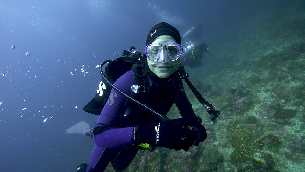 Fisk Johnson scuba diving in Indonesia