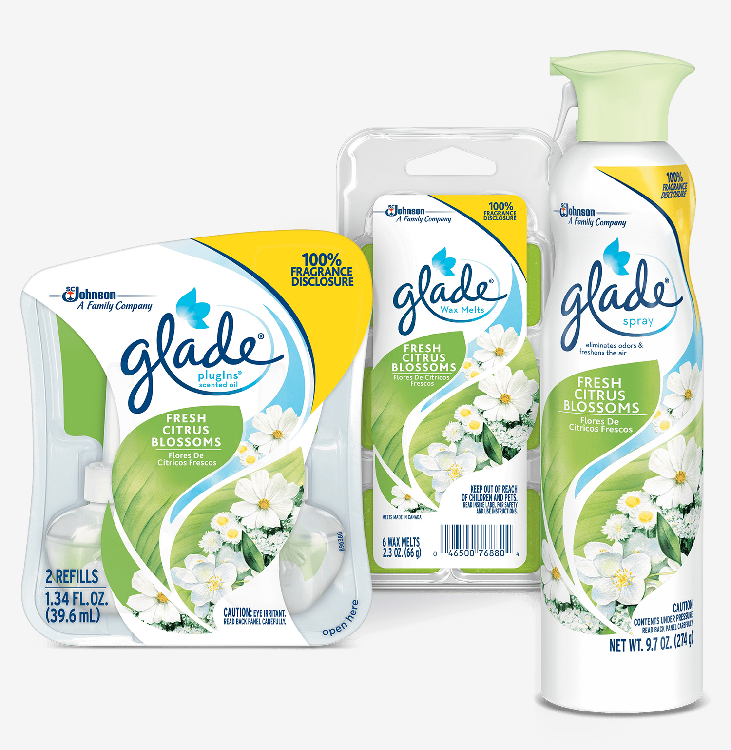 SC Johnson Glade Fresh Citrus Blossoms Air Freshener
