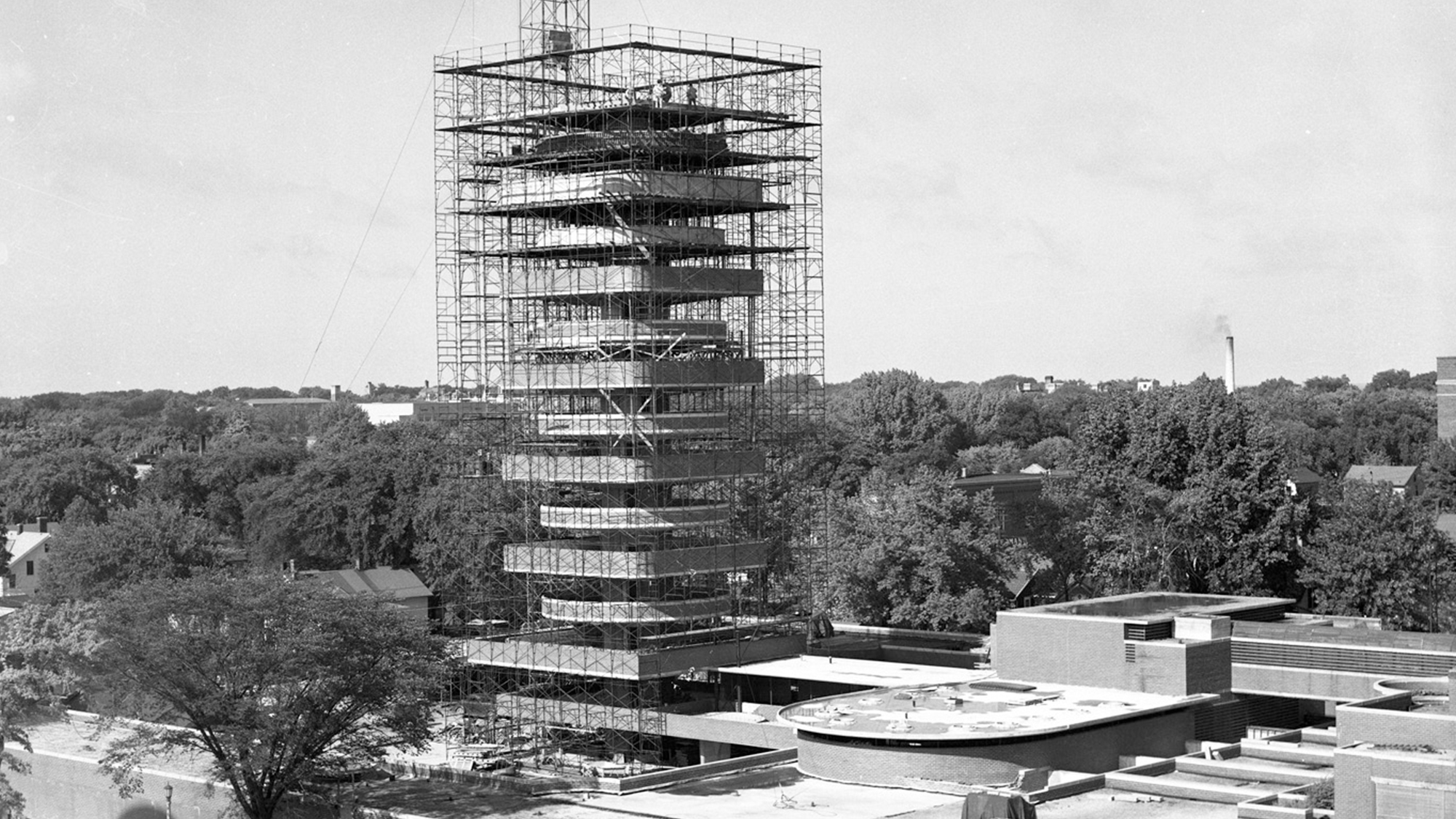 Construction begins on Frank Lloyd Wright's famous building
