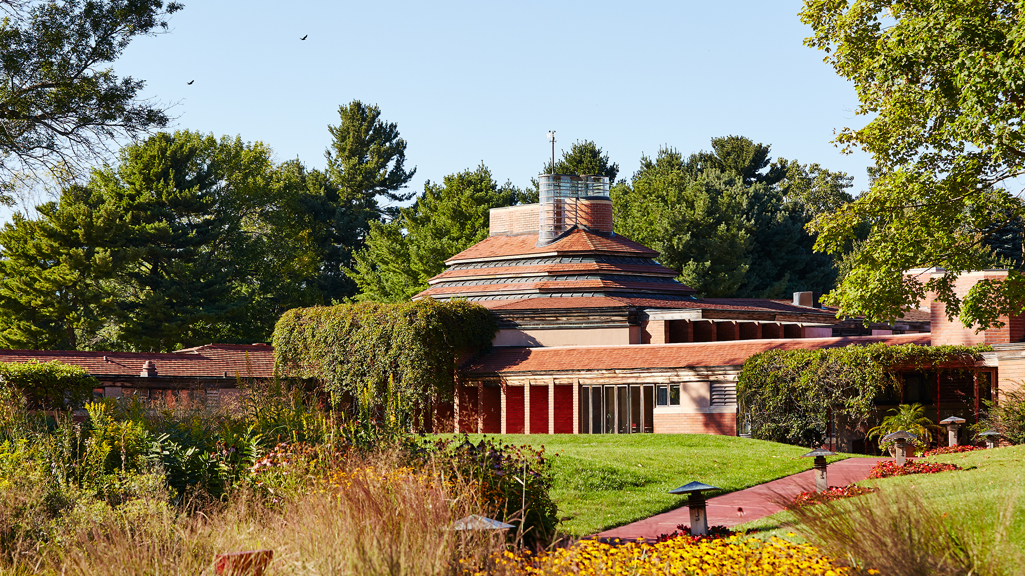"H.F. Johnson, Jr. Frank Lloyd Wright-designed ""Wingspread"" home"