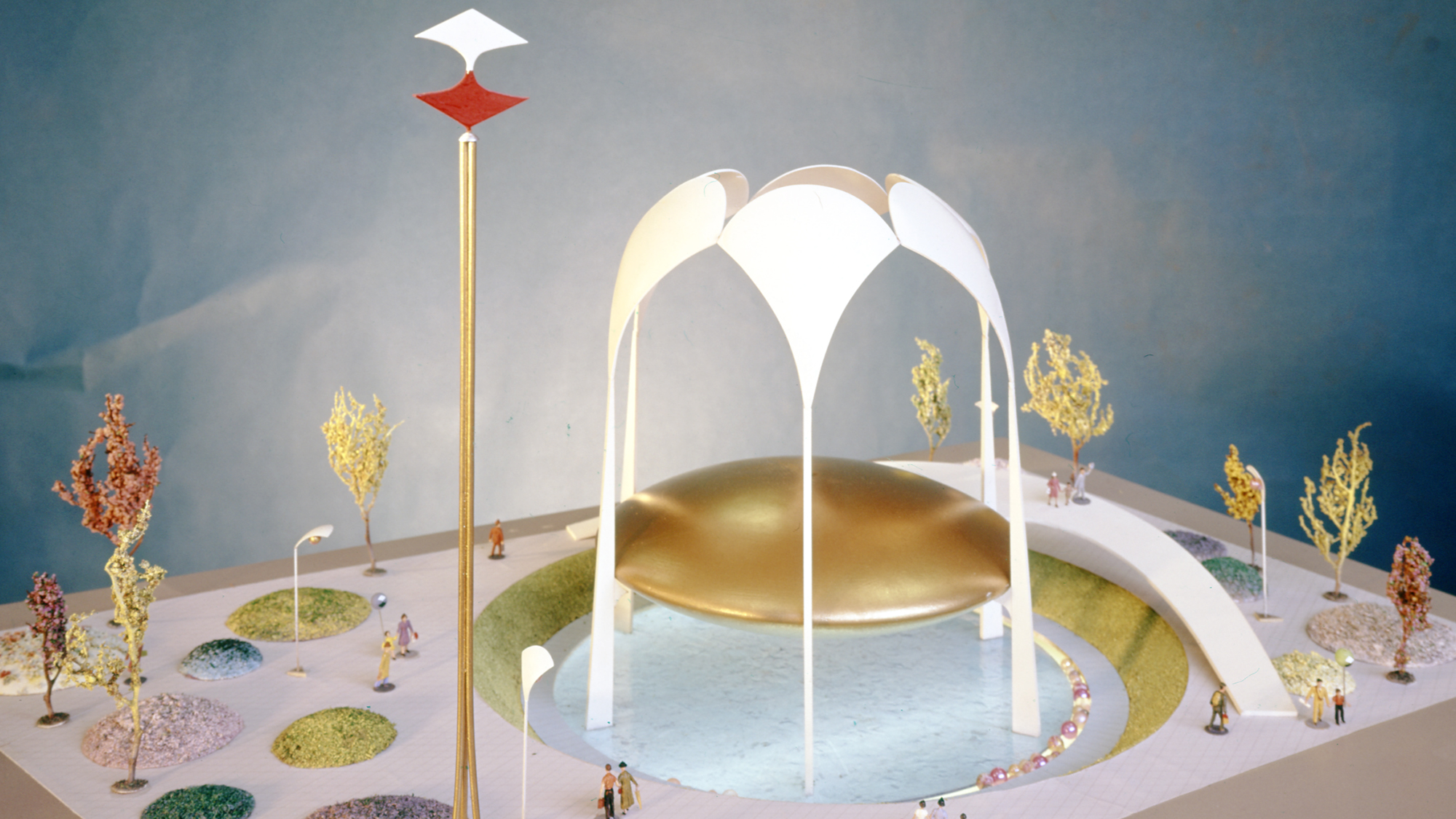 Model of the 1964 Johnson Wax Pavilion at the World's Fair